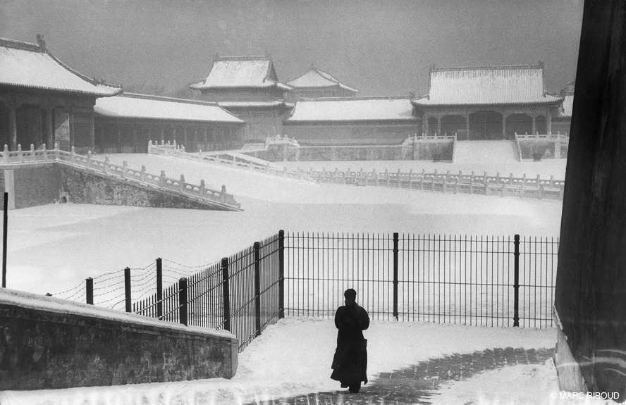 Forbidden City under the snow, Beijing, 1957