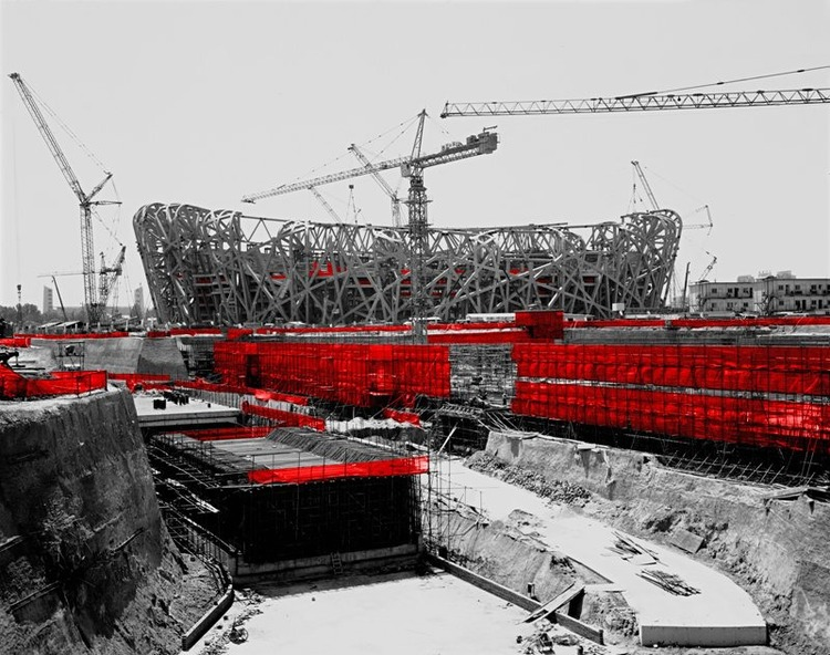 The Red and the Black - 24, Bird's Nest #2, Beijing, 2006, Digital C-print