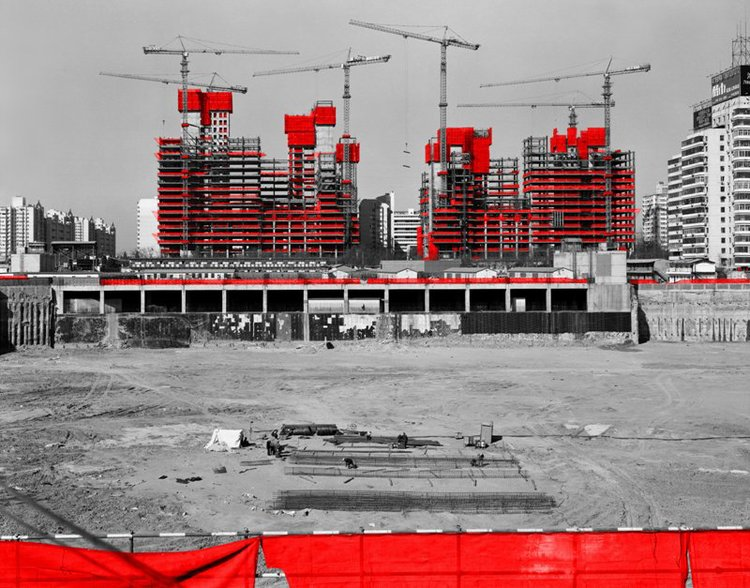 The Red and the Black - 01, Dongzhimen, Beijing, 2006, Digital C-print