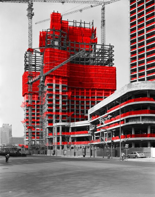 The Red and the Black - 05, Hujialou, Beijing, 2006, Digital C-print