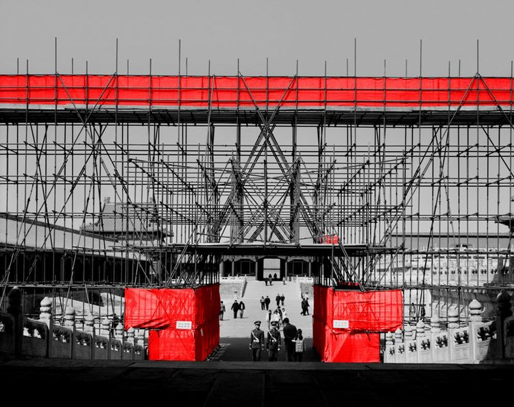 The Red and the Black - 15, Forbidden City #1, Beijing, 2006, Digital C-print