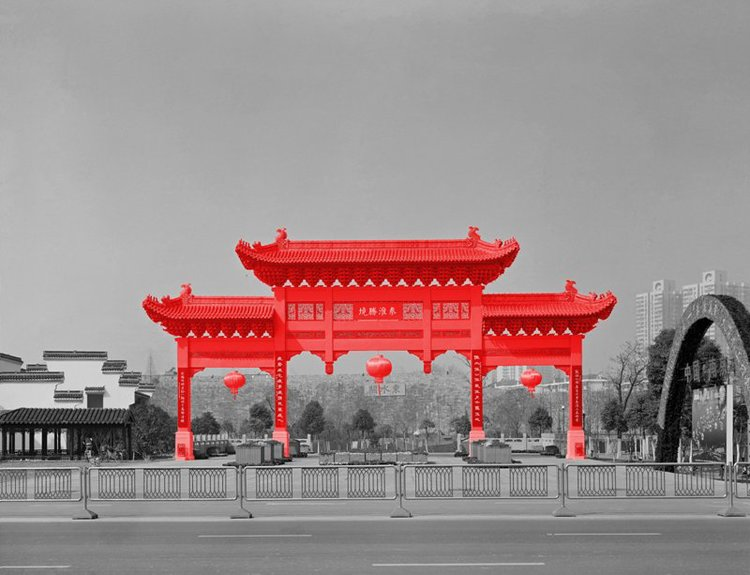 The Red and the Black - 09, Resurrection Project #2, Nanjing, 2005, Digital C-print