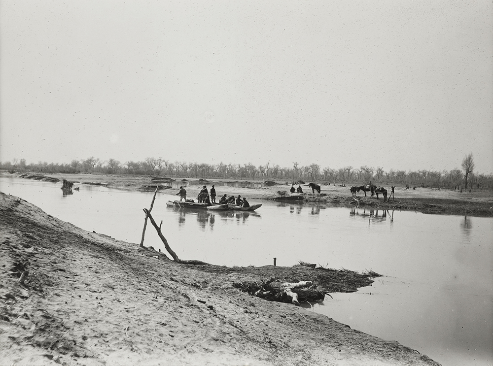 Ferry on Konche River, March 1931. Photo 392/34(217) © British Library