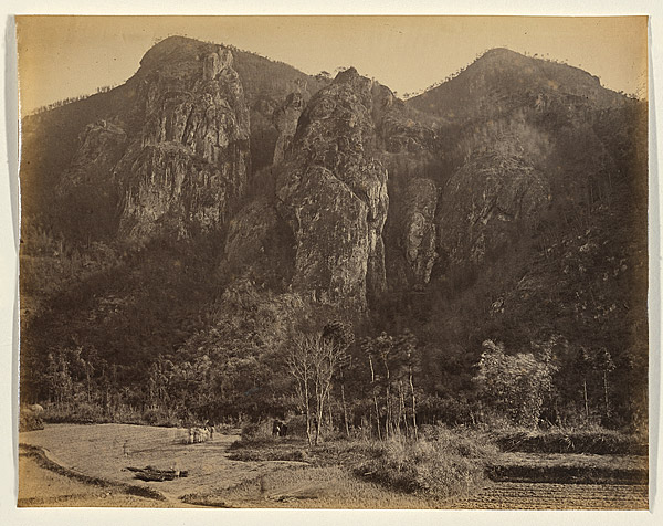 Entrance to the Bankers' Glen, view to the right looking down Yuen-foo River, 1870, albumen print. NGA 2009.172 © National Gallery of Australia