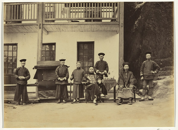 Servants of American consulate, Foochow, c. 1870, albumen print. NGA 2012.1198 © National Gallery of Australia