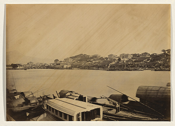 290mm. Untitled [View of the Foreign Settlement at Fuzhou], 1870, albumen print. NGA 2009.169 © National Gallery of Australia