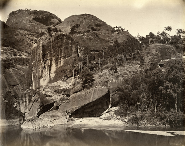 View on the River Min, c. 1870, albumen print. AC4-43 © Oldchinaphotography.com