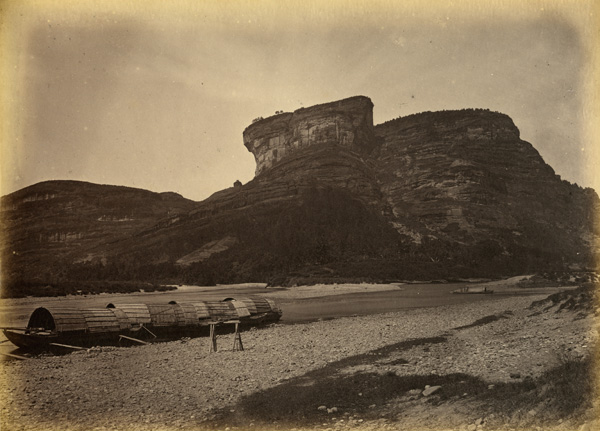 View on the River Min, c. 1870, albumen print. AC3-33 © Oldchinaphotography.com