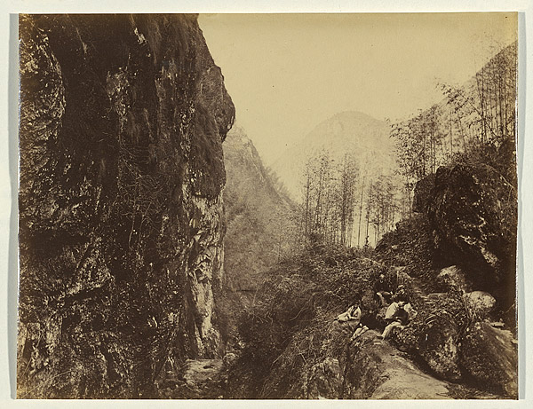 Westerners in Bankers' Glen, 1870, albumen print. NGA 2009.167 © National Gallery of Australia