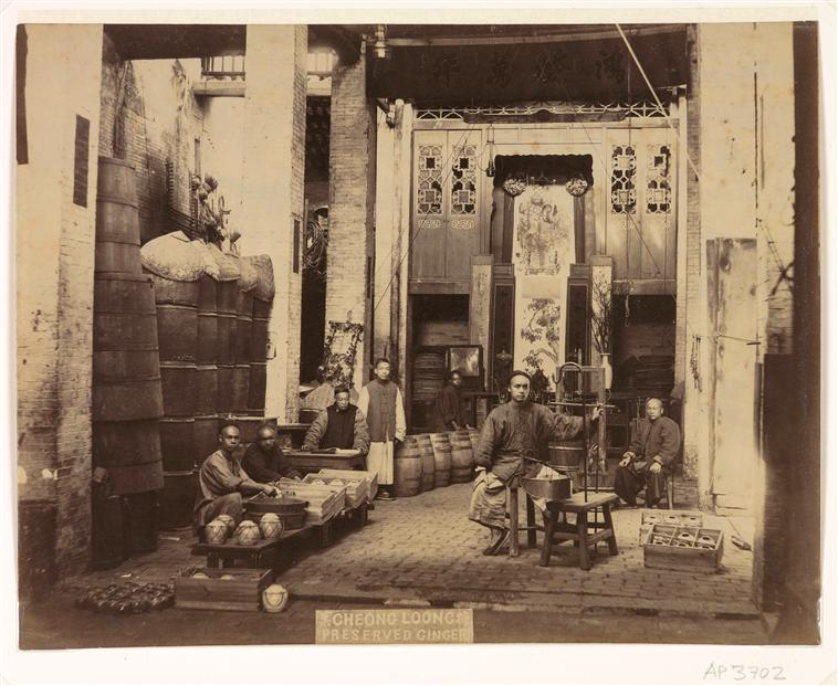Canton : Cheong Loong, Conserverie de gingembre, no date, albumen print