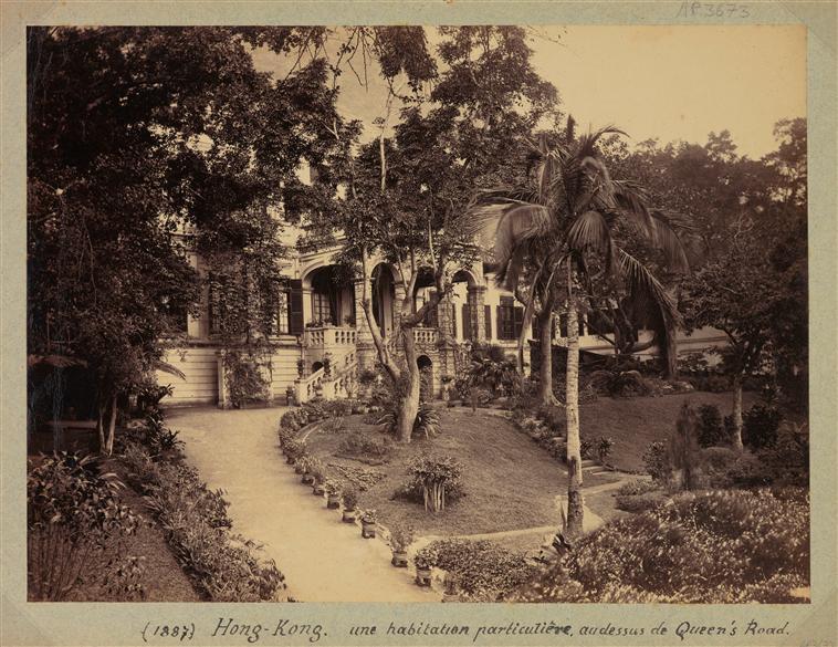 Hong Kong : maison privée, sur Queen's road, 1887, albumen print