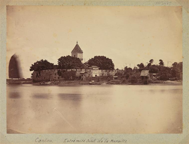 Canton : Les remparts à l'ouest de la ville, 1887, albumen print