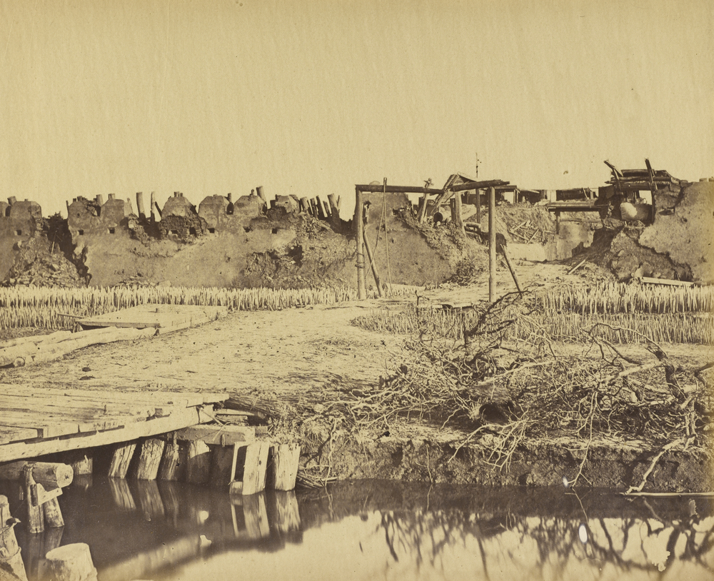 Exterior of the North Fort showing the English entrance August 21st 1860, Albumen silver print, 22.9 x 27.9 cm. The J. Paul Getty Museum, Los Angeles