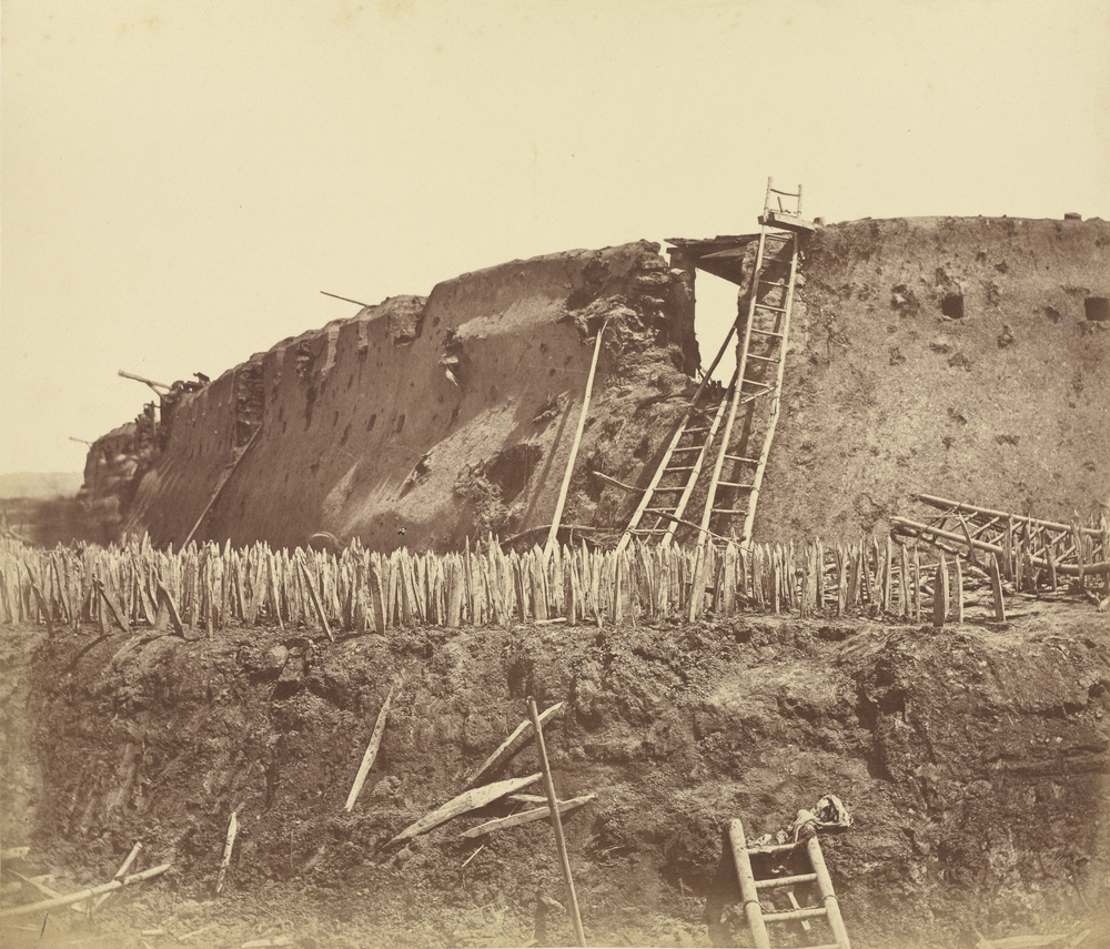 Interior of the Angle of North Fort Immediately after Its Capture, 1860, Albumen silver print, 25.6 x 29.9 cm. The J. Paul Getty Museum, Los Angeles