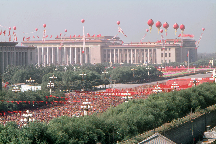 October 1, 1966. The Palace of the People in Tian'anmen Square in the background. © Solange Brand.