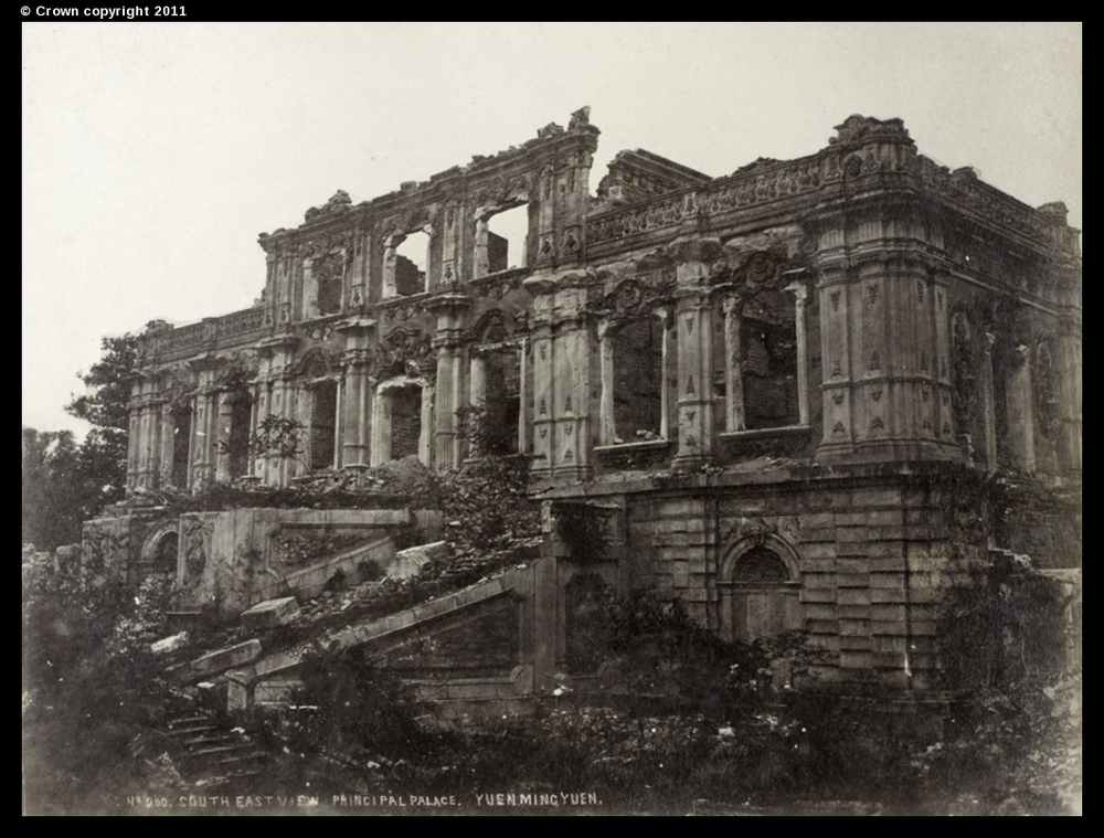 Ruins of Yuanming Yuan, Summer Palace, Peking, circa 1877-90