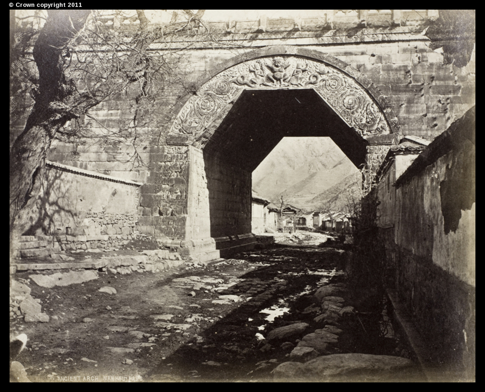 Ancient arch at Nankou Pass, 1877