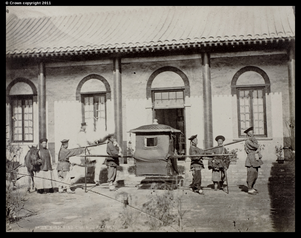 Mandarin's sedan chair, Peking, circa 1870-90
