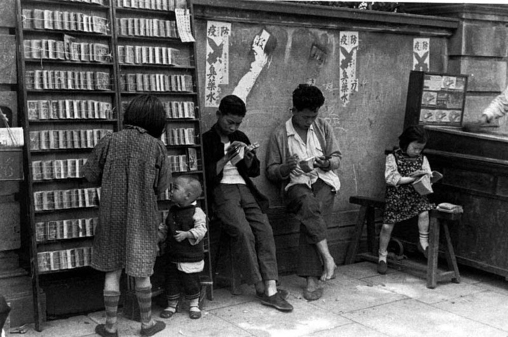 Travelling children's library, 1949. Image courtesy of the Institut d'Asie Orientale and Virtual Shanghai