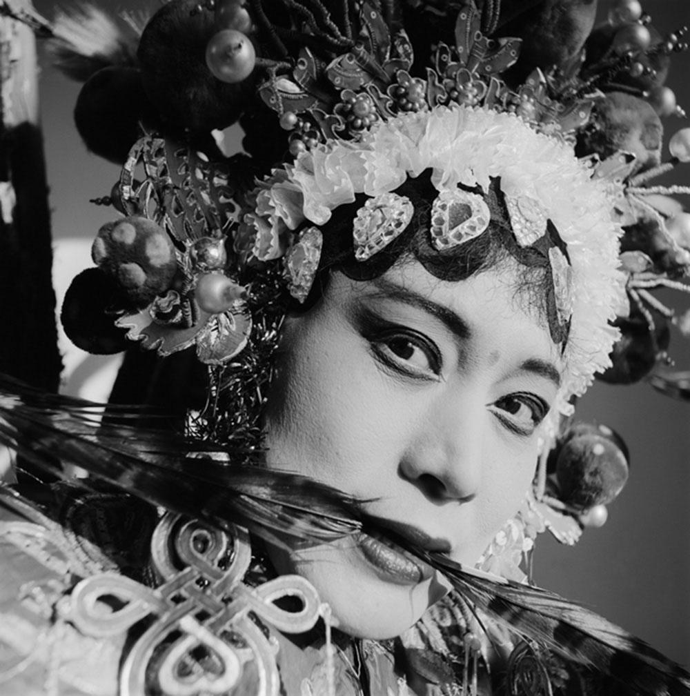 An Actress of Hebei Opera, Huoshentai, Henan Province, 2000, Archival inkjet print