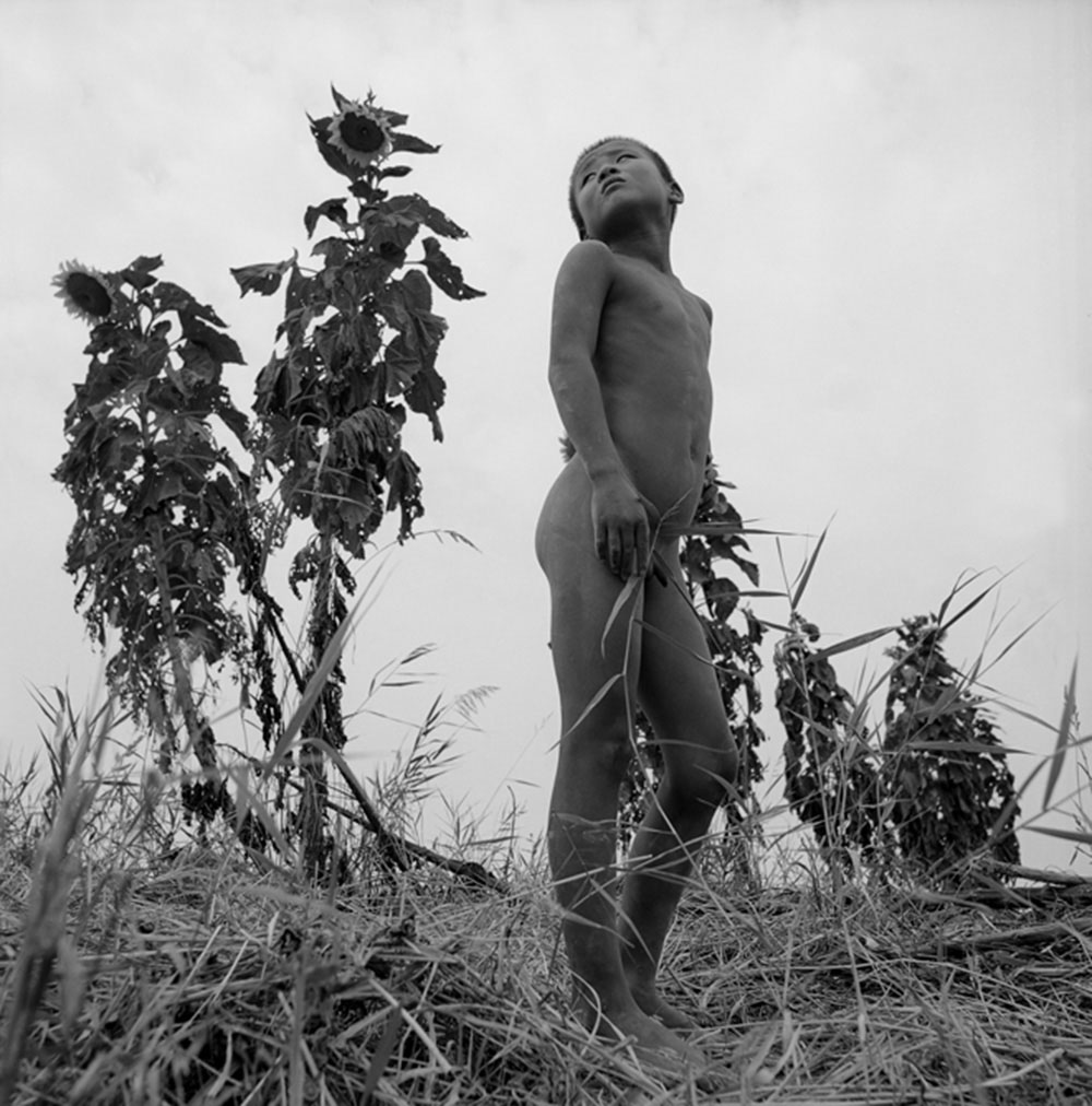 Naked Boy at the Riverbank, Yellow River, Kaifeng, Henan Province, 1998, Archival inkjet print