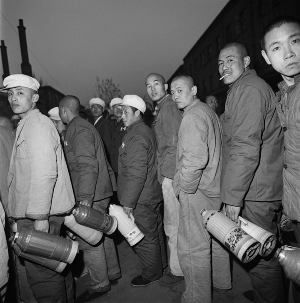 Convicts Fetching Water, Baoding, Hebei Province, 1995, Archival inkjet print