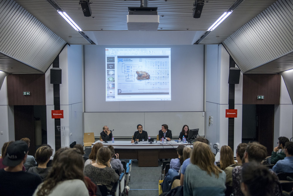 Stefen Chow's talk at Sciences Po © Shawn Koh