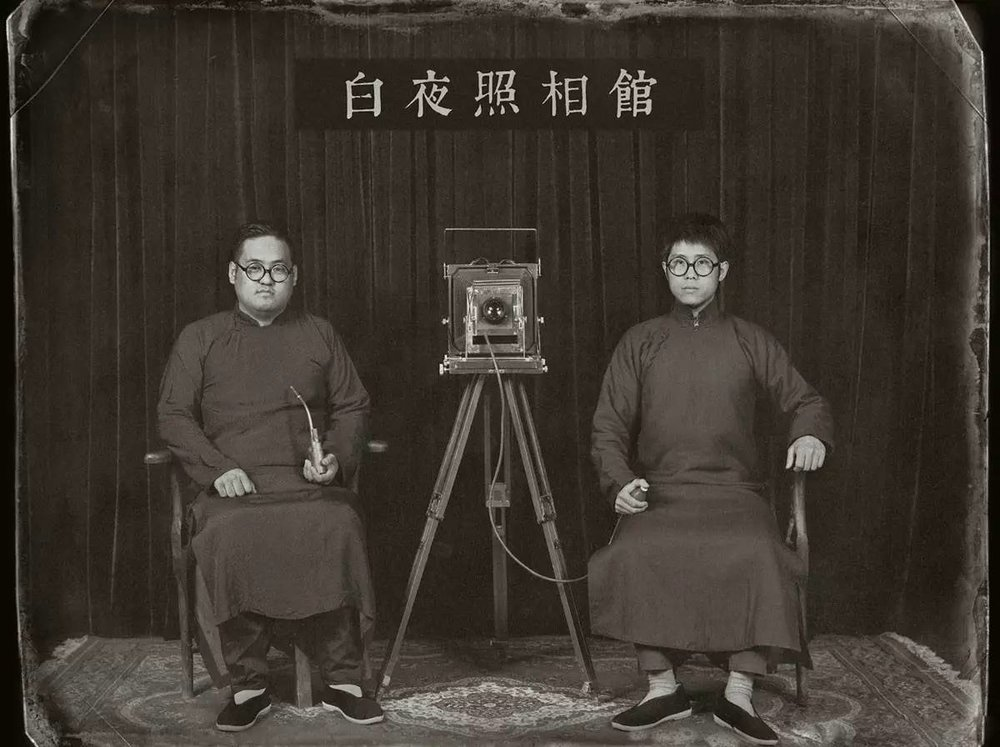 Portrait of Yang Wei and Wang Xu, founders of the White Night Studio