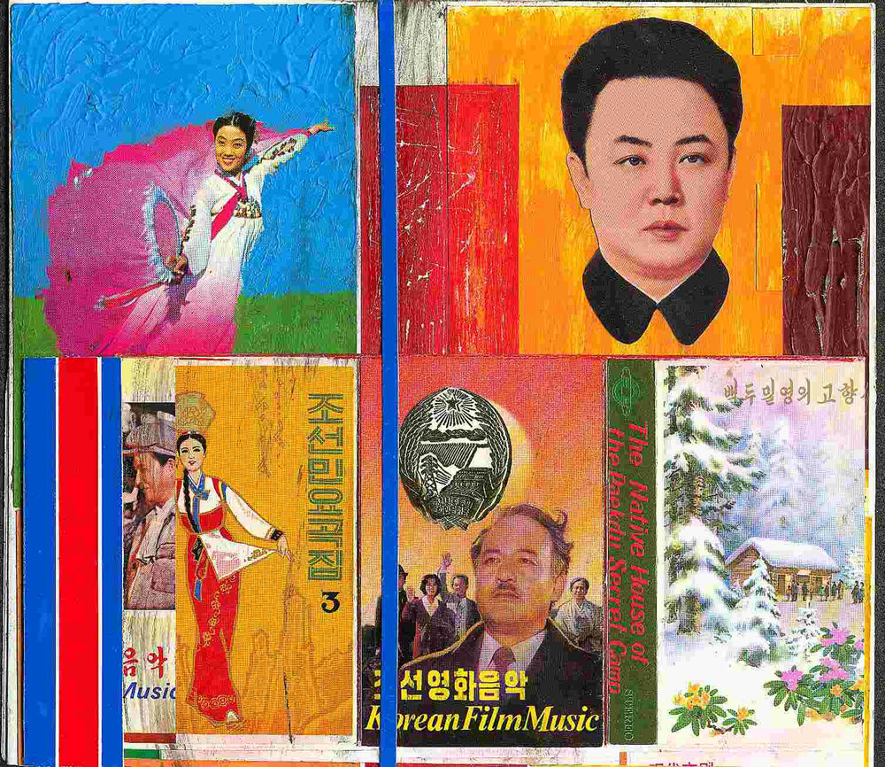 Pierre Bessard, collage and mixed media for the North Korea project