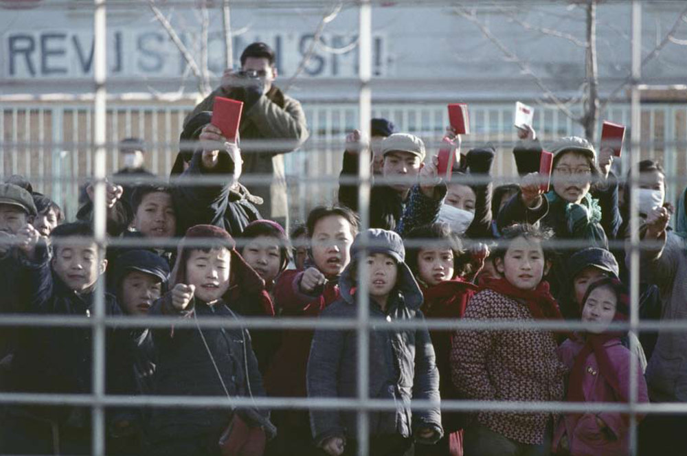 February 1967, protest in front of French Embassy in Beijing © Solange Brand