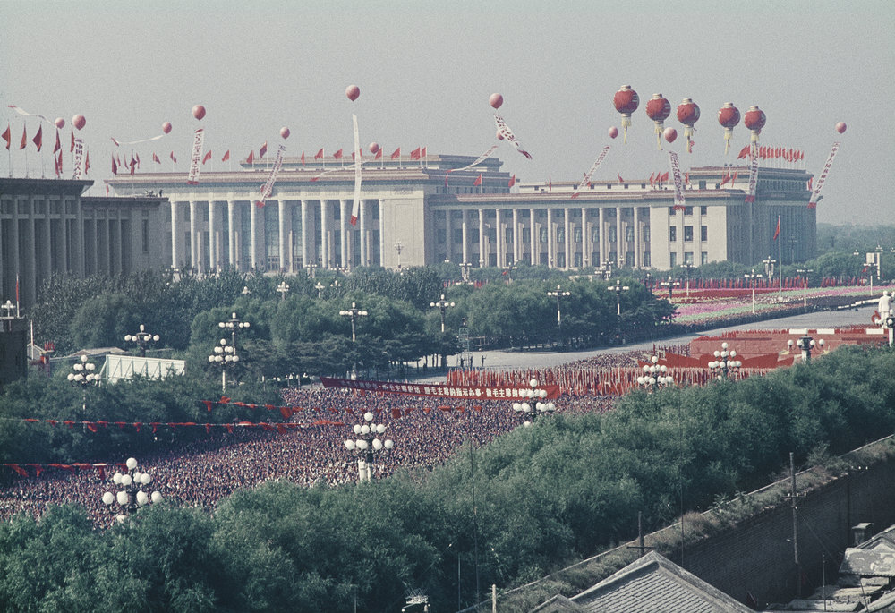 1st October 1966, in the background, the Great Hall of People on Tian'anmen square © Solange Brand