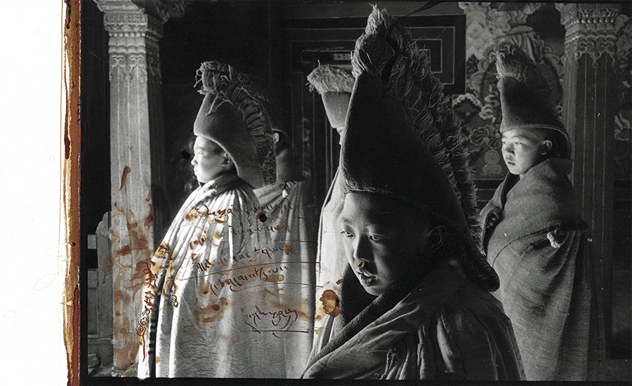"From the series ""Tibet 1985-1995"", inkjet print on acid-free paper and blood"