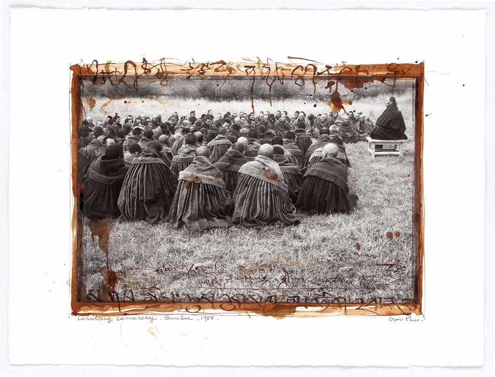 "Tibet, 2009, from the series ""Tibet 1985-1995"", inkjet print on acid-free paper, blood © BoSTUDIO"