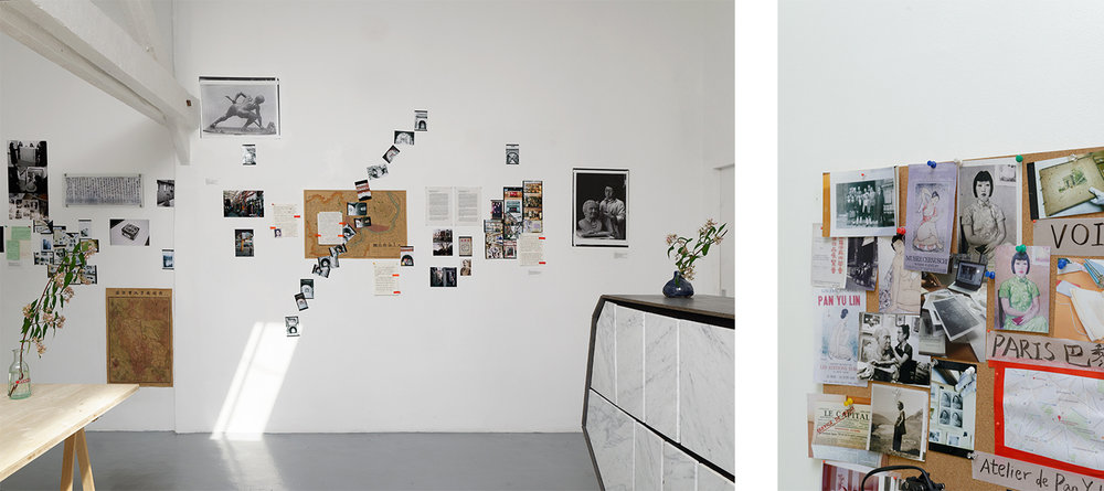 Exhibition view of Pan Yuliang: A Journey to Silence, Villa Vassilieff, Paris, 2017. Mia Yu, Atlas of Archives, 2017. Courtesy of the artist. Image: Aurélien Mole.