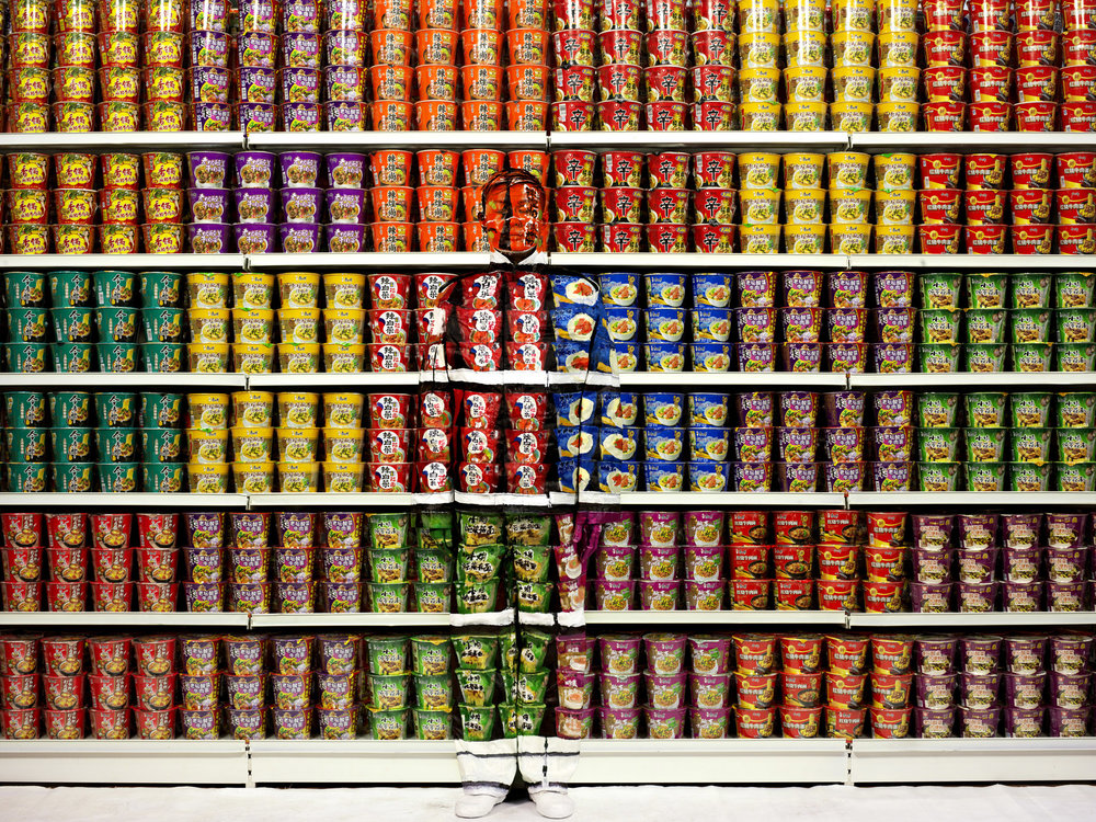 Liu Bolin, Hiding in the city series, Instant Noodles, 2012 © Liu Bolin. Courtesy galerie Paris-Beijing