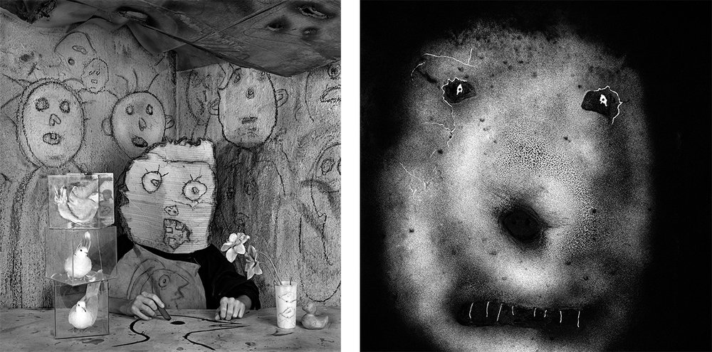 Roger Ballen  Cat01 : Artiste, série Asile des oiseaux, 2013. / Artist, from the Asylum of the Birds series, 2013 Cat11 : Piquant, série Le Théâtre des apparitions, 2007. / Spiky, from the The Theatre of Apparitions series, 2007