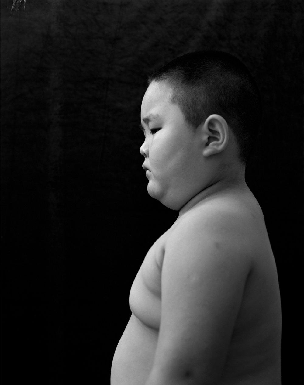 Profile of a fat boy, 2004, 150x120cm