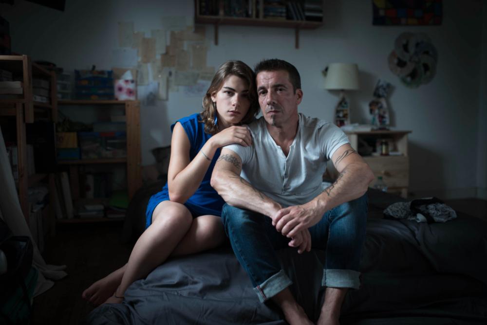 Mélanie and her father © Vincent Gouriou