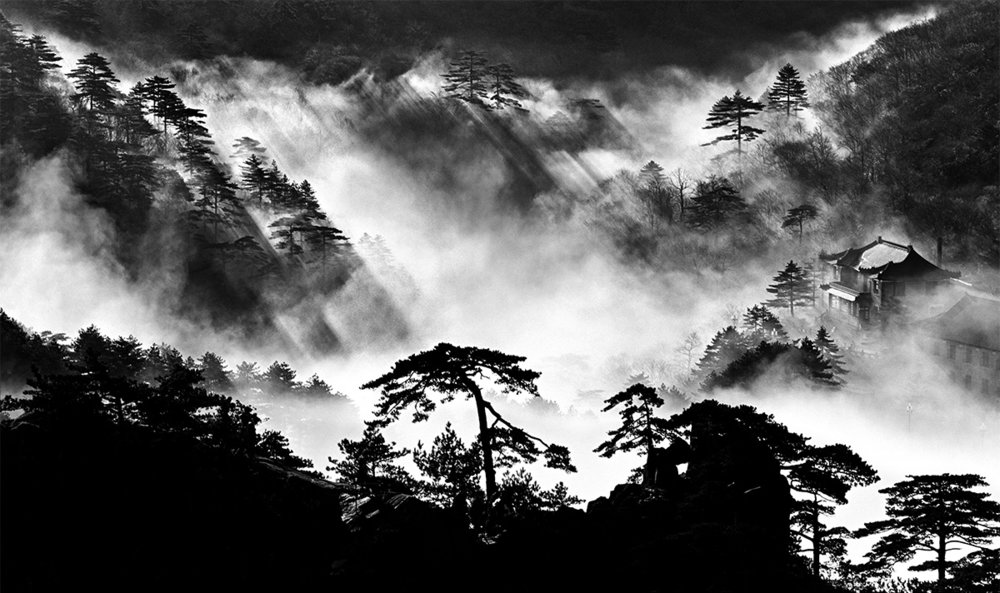 Wang Wusheng, Mount Huangshan  Series A104 W49, 1984.Courtesy of Three Shadows + 3 Gallery