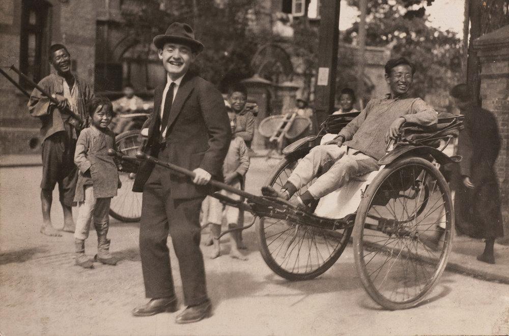Untitled [Rickshaw],  1930s, hand tinted photograph ©  Sam Sanzetti