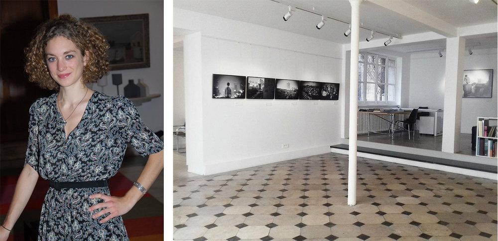 Left: Portrait of Aurélie Chauffert-Yvart / Courtesy of Aurélie Chauffert-Yvart Right: Galerie Folia, Liu Tao's exhibition view / Courtesy of Galerie Folia