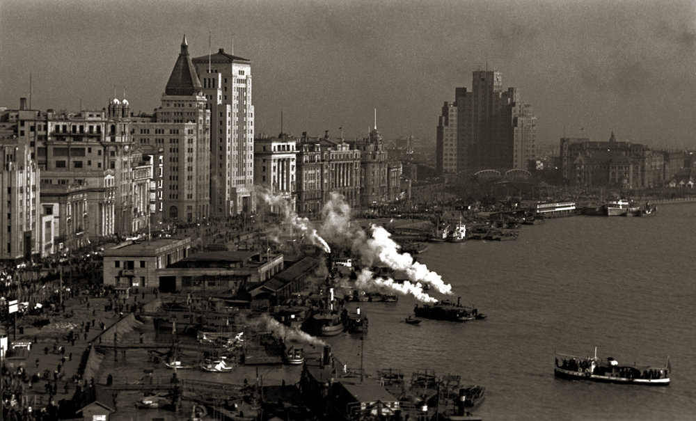 从气象台眺望北外滩, Overlooking the Bund, early 1950s / Courtesy of Jin Hua