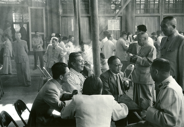 Congress Deputies, during refreshment break, NPC, Peking 1956 | Courtesy of Tom Hutchins Images Ltd., New Zealand