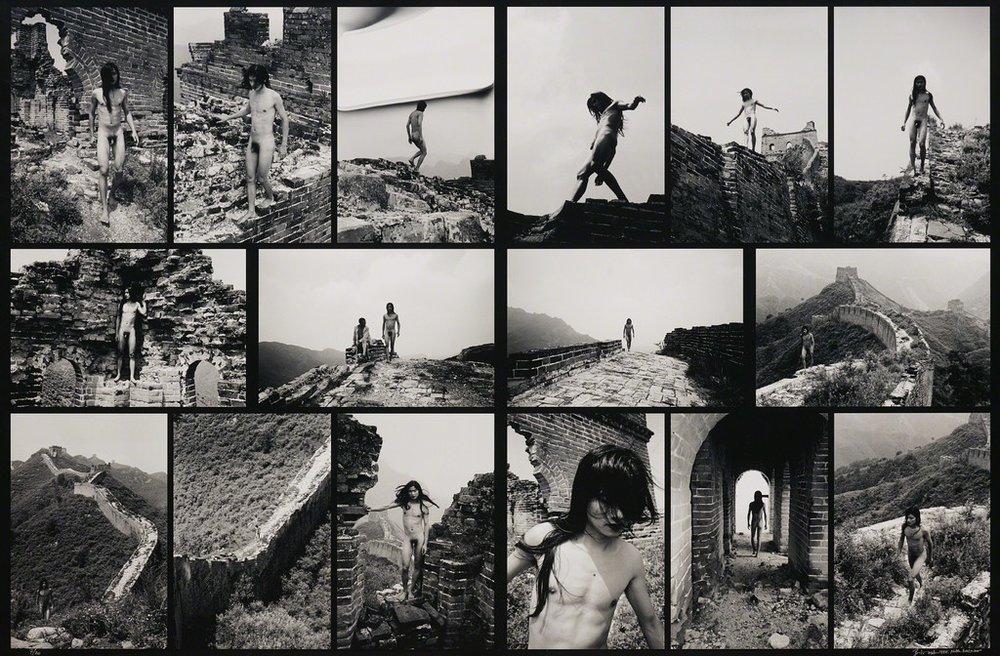Ma Liuming - Fen-Ma Liuming walks the Great Wall - 1998 - 210 x 143 cm - 7/20 | Courtesy of the White Villa Collection