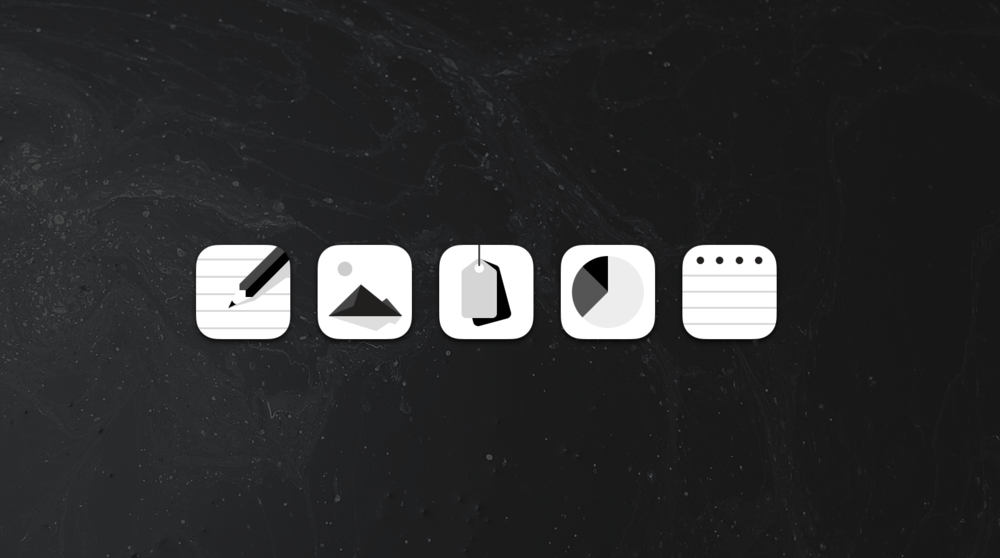 The Squarespace iOS and Android icon suite I created.