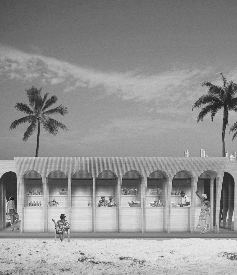 *AWARDED  PAvilion Cartagena, Colombia Team:: G.Badalacchi, S. Lambotte