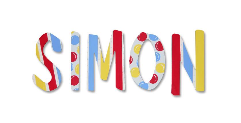 "SIMON -8"",Font: Dom Casual"