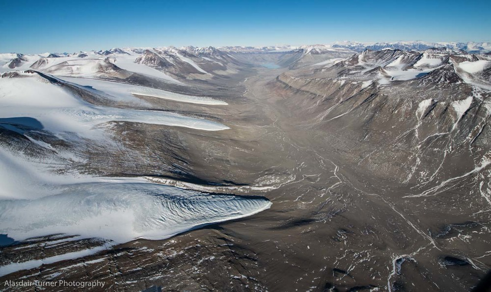 The Wright Valley, Antarctica.  Shot from a Dehavilland Otter.