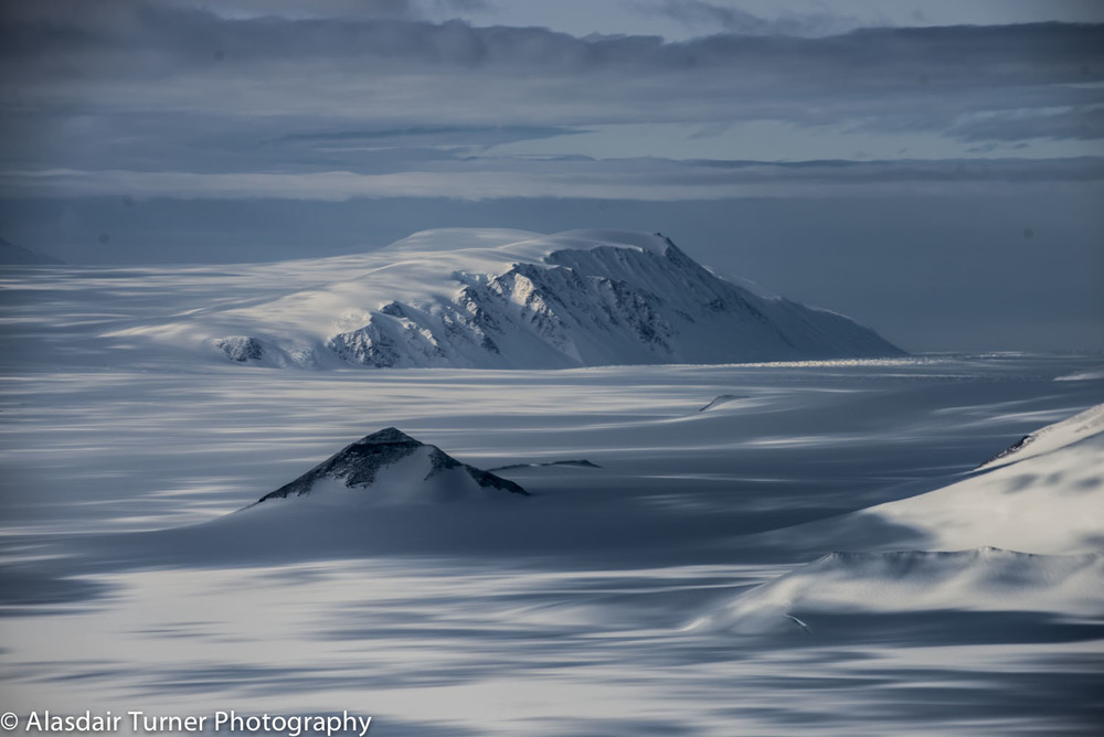 The Trans-Antarctic Mountains, Antarctica.  Shot from an Astar B3