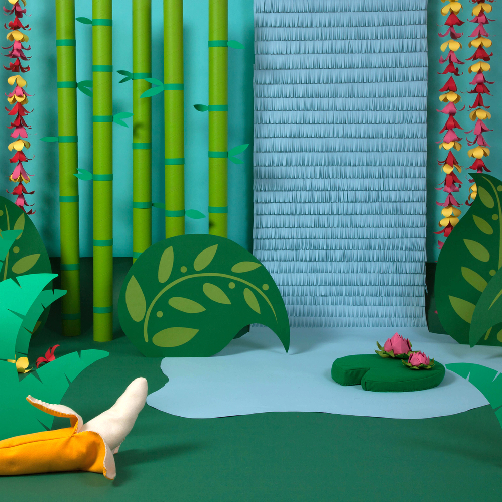 "Set design and fabrication for ""Gramma Nancy's Animal Hats (and Booties, too!)"""